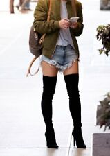 Over The Knee Boots Thigh High Stretch Upper Pointy Toe Stiletto Heel Shoe Boot