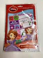 Disney Princess Sofia Holiday Wish List Packet NEW