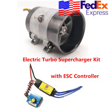 Car Electric Turbocharger Turbo Boost Air Fan 12V w/ Electronic Speed Control US