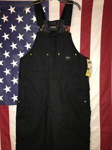 Walls Arctic Zone Insulated Heavy 12oz Duck Cotton Black Overalls Large/Tall NWT