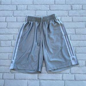 Adidas Men's Basketball Shorts - Grey Silver - Small S - Running Gym 3 Stripes