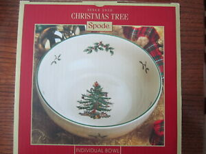 "Spode Christmas Tree Bowl Individual Serving Bowl 7"" MSRB $42 / NIB"
