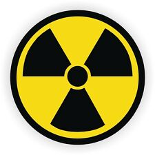 5x Radiation Symbol Hard Hat Stickers / Decals / Labels Radioactive Atomic