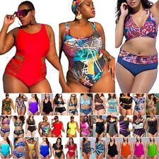 Women Print Padded Swimsuit Monokini Bikini Set High Waist Swimwear Beachwear