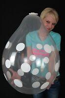 """3 x Qualatex 18"""" Weithalsballons POLKA DOTS (VERPACKUNGSBALLON*STUFFER)"""