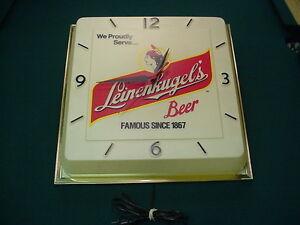 Leinenkugels Beer Clock Vintage WI