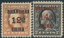 Shanghai #K6-K7 Vf-Xf Og Lh Cv $28 Br8502