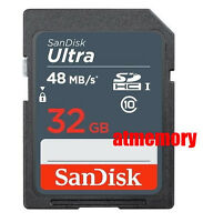 Sandisk Ultra 32GB 32G SDHC UHS-I Memory Card SD 48MB/s Class10 HD Video Extreme