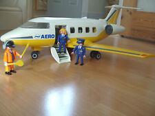 Playmobil 100% Complete Set 3185 Aero Line Jet Plane Large Aeroplane