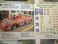 DECALS KIT 1/43 OSELLA PA 5 LE MANS 1977