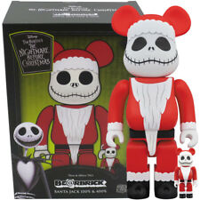 Medicom Be@rbrick Bearbrick Nbc Santa Jack Skellington 100% & 400% Set Figure