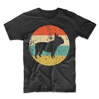 French Bulldog Shirt - Retro Frenchie Bulldog Men's T-Shirt - Dog Icon Shirt