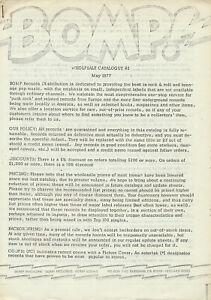 Bomp! Wholesale Catalogue #2 - May 1977 [USA] - Magazine