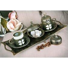 Authentic Turkish Coffee Espresso Serving Set Solid Copper Cup Elder Flower