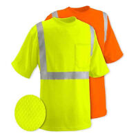 Class 2 Max-dry Moisture Wicking Mesh Short  Sleeve Safety T-shirt ,Choose Color