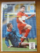 29/04/2001 FA County Youth Cup Final: Birmingham v Northamptonshire [At Wolverha