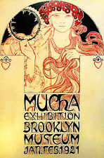 "MUCHA 1921  vintage travel art print  canvas or satin  28""x 20"""