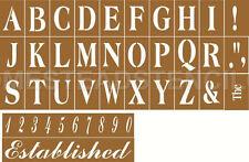 "~Item #2718~Primitive Stencil ~Alphabet Cap Set ~4""~& 2 overlays Established + #"