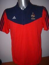 France Polo Leisure Adidas Adult Large Football Soccer Shirt Jersey Francais