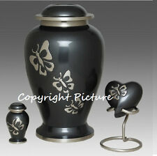 Eternal Butterfly Cremation Urn, Funeral Urn,Adult, Brass, New - Great Deal