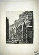 1821 Rossini Rome Italy Le Antichita Romane engraving etching