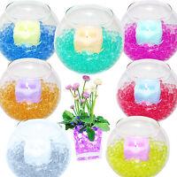 2 Water Gel Aqua Bio Soil Crystal Beads Ball Flowers Vase Filler Decor Wedding