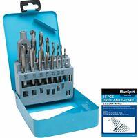 Bluespot 6pc Tap and Drill Bit Set Metric M3 M4 M5 M6 M8 M10 M12 Thread Cutter