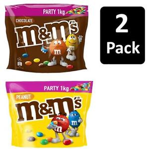 2 x 1kg M&M's Party Bags Milk Chocolate and Peanut Flavour Share Bag