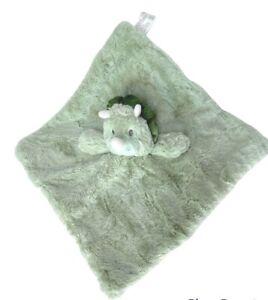 "Baby Lovey Dinosuar SECURITY BLANKET LOVEY RATTLE NEW green soft 14"" infant boy"