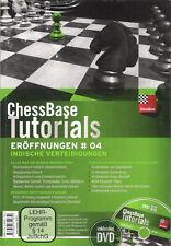 ChessBase Tutorials Eröffnungen 4 - Indische Verteidigungen - Schach NEU OVP