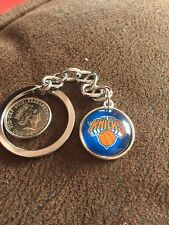 NEW YORK KNICKS Basketball NBA Iconic Logo Metal Key Ring Unique Raised Front