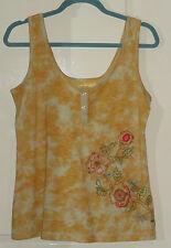 Sale Next yellow tie-dye top t-shirt. Sleeveless strappy top.  Size 12.