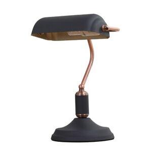 Traditional Table Desk Lamp Antique Banker Brass Black Nordic Metal retro vintag