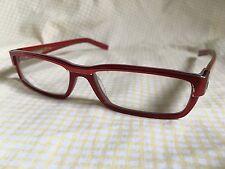Cogan Red RX Eyeglasses Tan & Light Blue Temples
