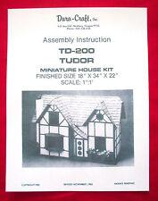 Dura-Craft  *TUDOR* TD-200 (1983)  Dollhouse Instructions