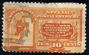 US 1893 10c Special Delivery Messenger Running, Unwmrk, UH, Orange, Scott #E3