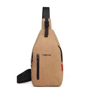 Outdoor Travel Sport Canvas Chest Pack Bags Man Messenger Shoulder Bag Casual