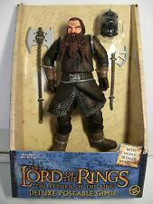Lord of the rings Deluxe Poseable Gimli ~ NEW