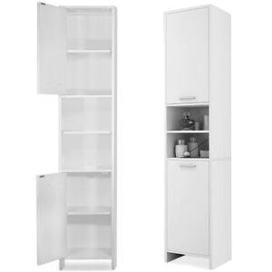 Modern Bathroom Cupboard Tall Cabinet Furniture Large Tallboy Storage Unit Home