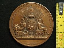MEDAILLE CUIVRE Alp. DUBOIS CHERBOURG 1863 au Cte F.E. de BESPLAS Lt DE VAISSEAU