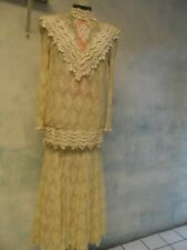 New listing Cachet vtg Lace victorian Wedding edwardian Skirt Suit sz 10