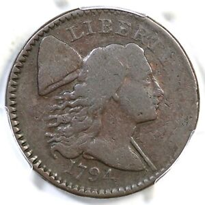 1794 S-64 R-5- PCGS VG 8 No Fraction Bar Liberty Cap Large Cent Coin 1c