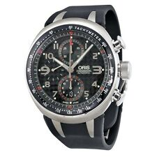 Oris TT3 Chronograph Automatic Black Carbon Dial Mens Watch 674-7587-7264RS