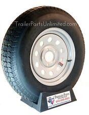 Trailer Tire + Rim ST205/75D15 F78-15 205/75-15 LRC 5 Lug Wheel Silver Mod 5x4.5