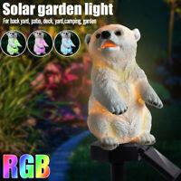 Solar Lampe LED Solarleuchte Eisbär Gartenbeleuchtung Außenlampe Landschaft  3