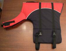 """Ruffwear K9 Float Coat Dog Life Jacket X-LARGE Red Black 35-49"""" Girth UNUSED"""