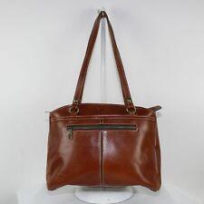 Patricia Nash Brown Leather Messenger Bag