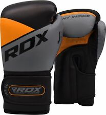 RDX 6 oz Orange Boxing Gloves Junior MMA Training Martial Arts Punching Mitts US