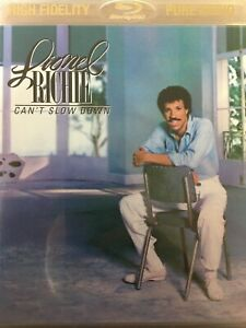 LIONEL RICHIE - Can't Slow Down BLURAY Pure Audio High Fidelity Stereo AS NEW!