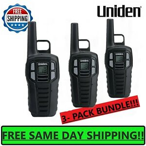 UNIDEN Long Range 3-pack Rechargeable Two Way Radio Walkie Talkies 16 MILE 2-Way